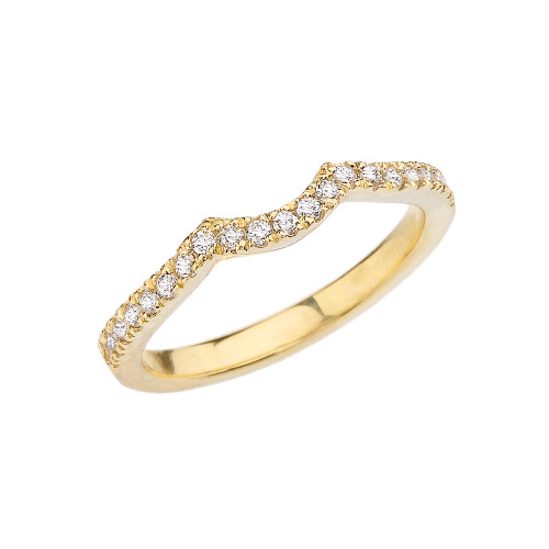Yellow Gold Diamond Engagement/Proposal Solitaire Band
