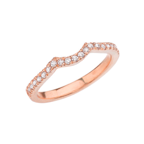 Rose Gold Diamond Engagement/Proposal Solitaire Band