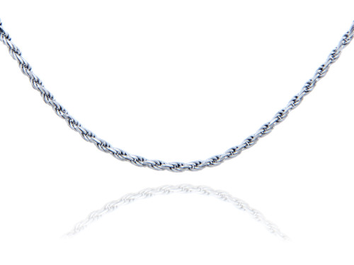 Rope 925 Sterling Silver Chain 1.25 mm