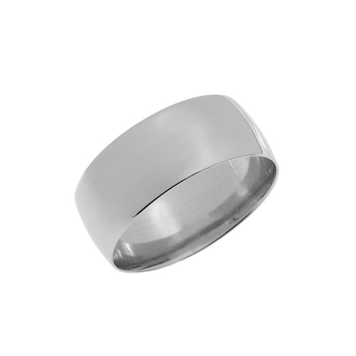 White Gold 8mm Comfort Fit Classic Wedding Band