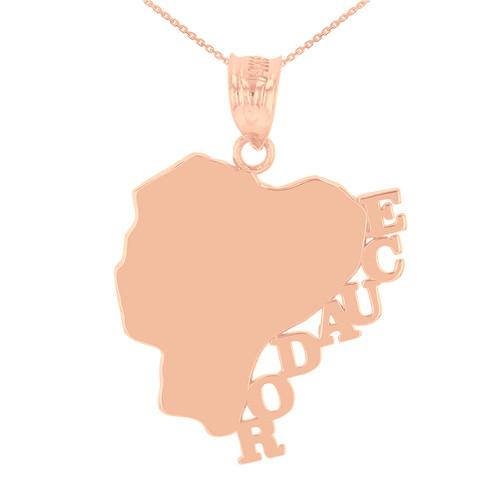 Rose Gold Ecuador Country Pendant Necklace