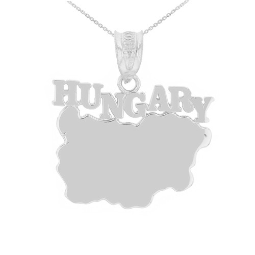 Sterling Silver Hungary Country Pendant Necklace