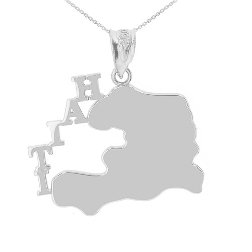 White Gold Haiti Country Pendant Necklace