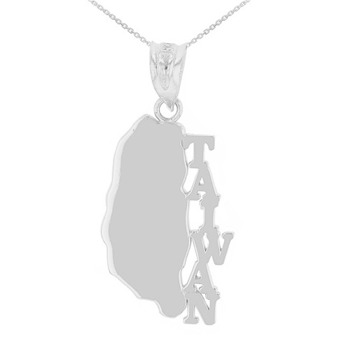 Sterling Silver Taiwan Country Pendant Necklace