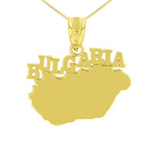 Yellow Gold Bulgaria Country Pendant Necklace