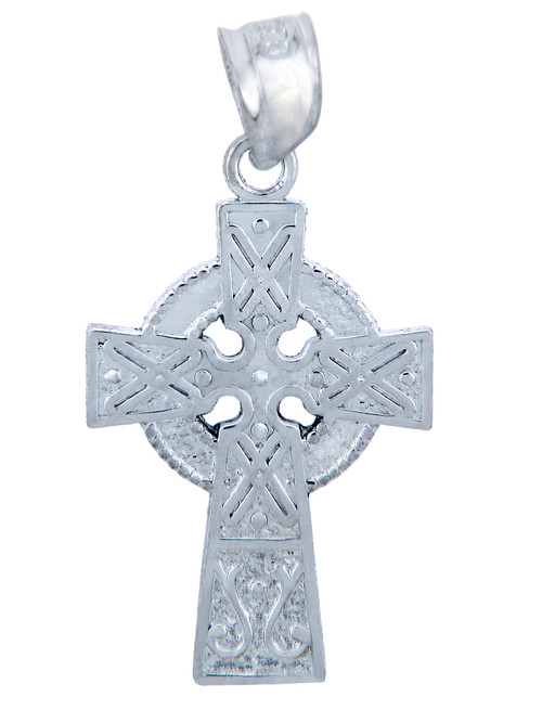 925 Sterling Silver Celtic Cross Small Pendant