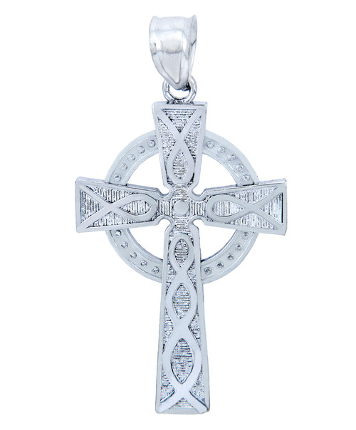 925 Sterling Silver Trinity Cross Pendant