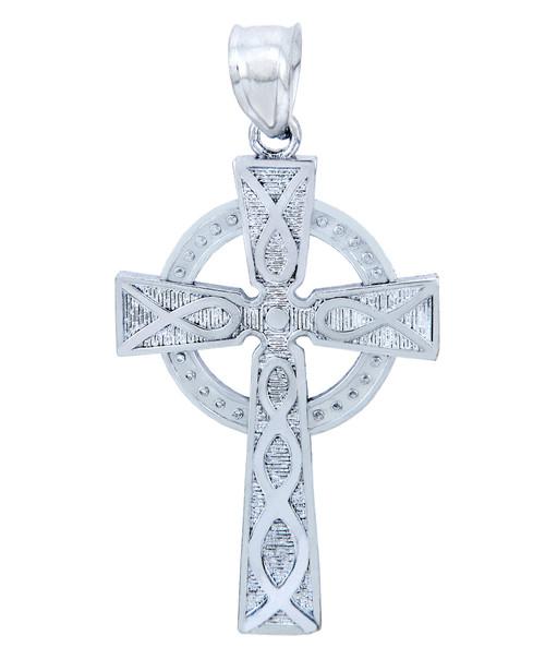 925 Sterling Silver Trinity Cross Pendant