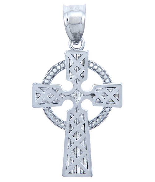 925 Sterling Silver Irish Cross Pendant