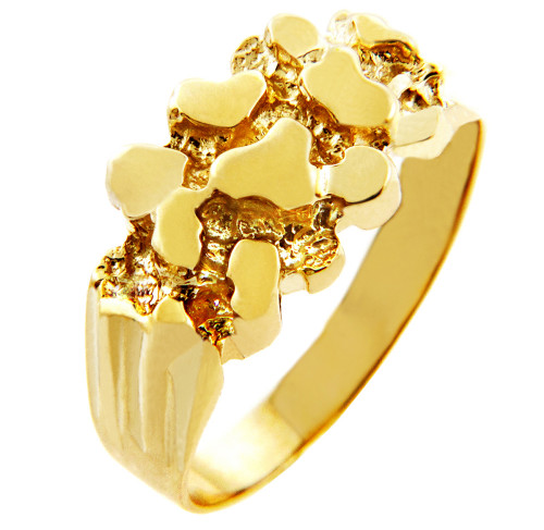 Rock Solid Gold Nugget Ring
