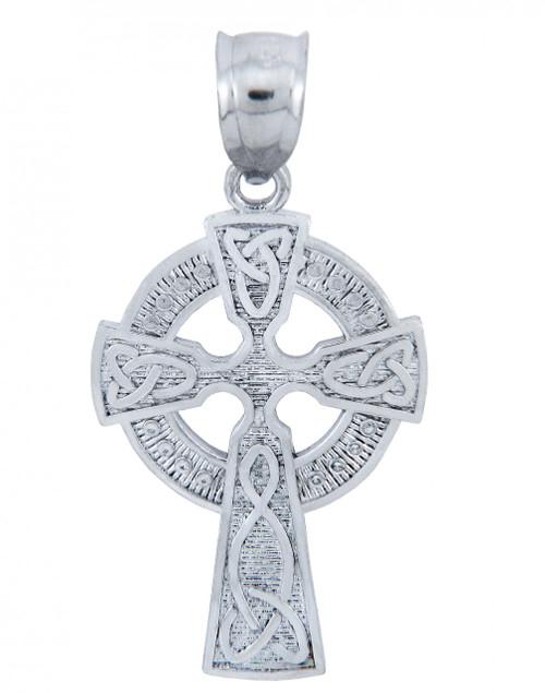 925 Sterling Silver Irish Celtic Claddagh Cross Pendant