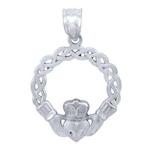 925 Sterling Silver Celtic Claddagh Pendant