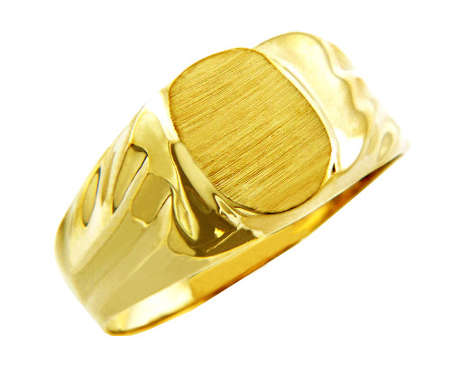Men's Superior Solid Gold Signet Ring