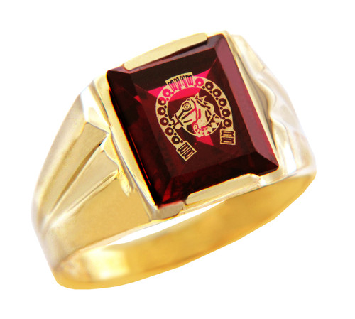Men's Gold Rings - The Lucky Horseshoe Gold Ring