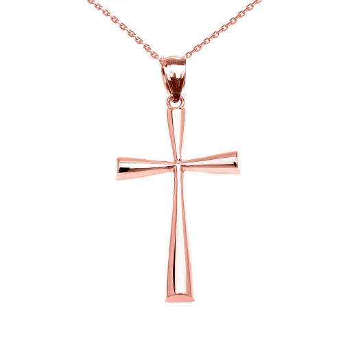 Rose Gold Dainty Cross Pendant Necklace