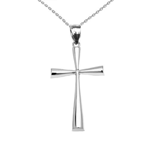 Sterling Silver Dainty Cross Pendant Necklace