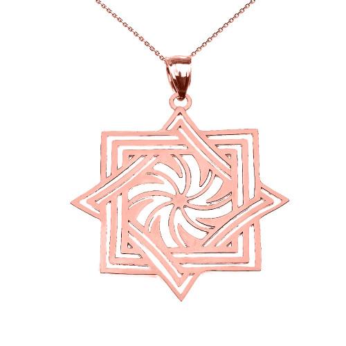 Rose Gold Armenian Eternity Pendant Necklace