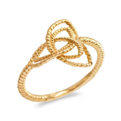 Gold Triquetra Celtic Knot Promise Ring