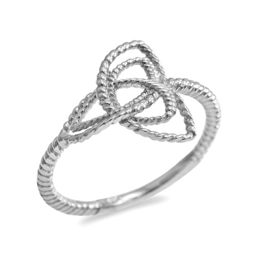 White Gold Triquetra Celtic Knot Promise Ring