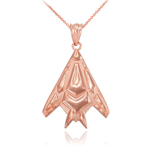 Rose Gold Military Stealth Pendant Necklace