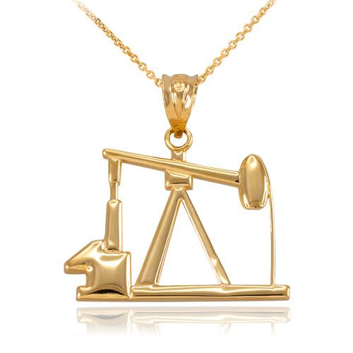 Yellow Gold Oil Pump Pendant