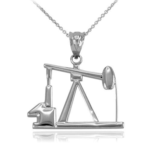 Sterling Silver Oil Pump Pendant