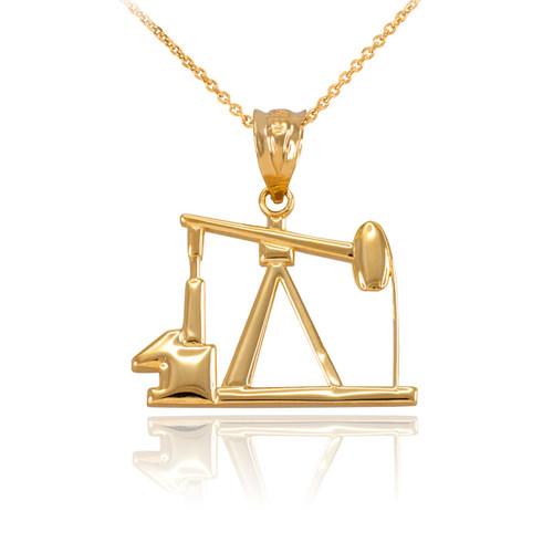Yellow Gold Oil Pump Charm