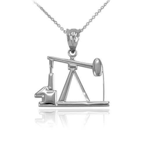 Sterling Silver Oil Pump Charm