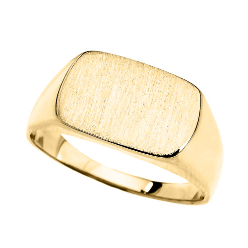 Yellow Gold Rectangular Signet Ring
