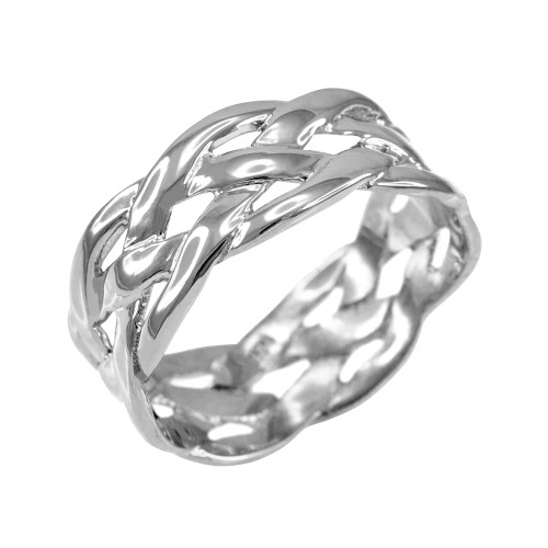 Sterling Silver Celtic Weave Wedding Band