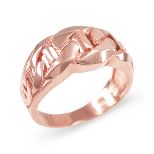 Rose Gold Mariner Link Chain Ring