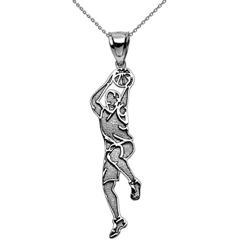Basketball Player Charm Sports Pendant Necklace