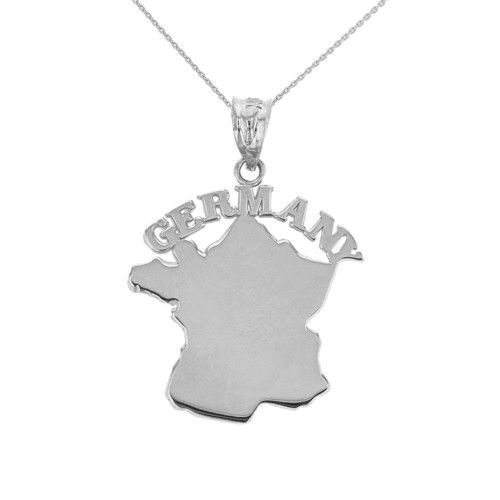 Solid White Gold Germany Pendant Necklace