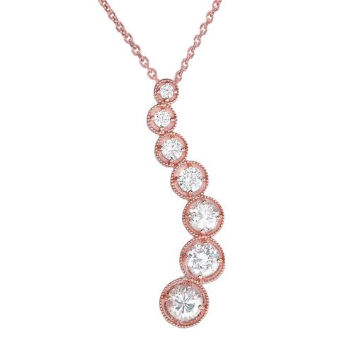 Rose Gold Diamond Journey Pendant