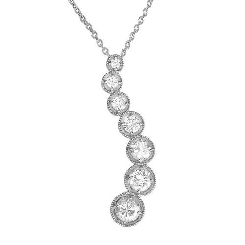 White Gold Diamond Journey Pendant