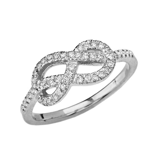 White Gold Eight Knot Diamond Infinity Ring