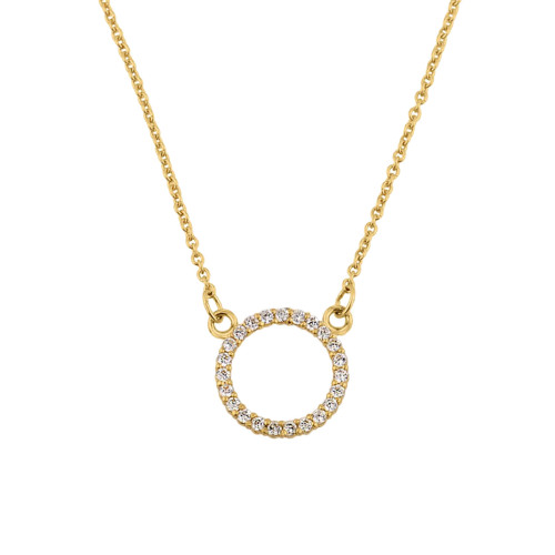 "14k Yellow  Gold ""Circle of Love"" Necklace"