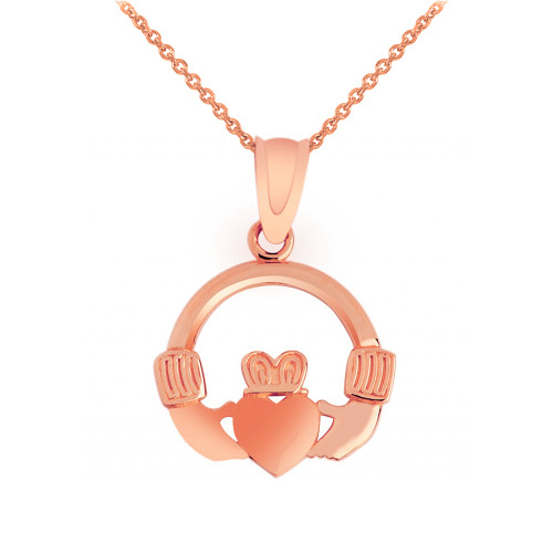 Rose Gold Claddagh Pendant
