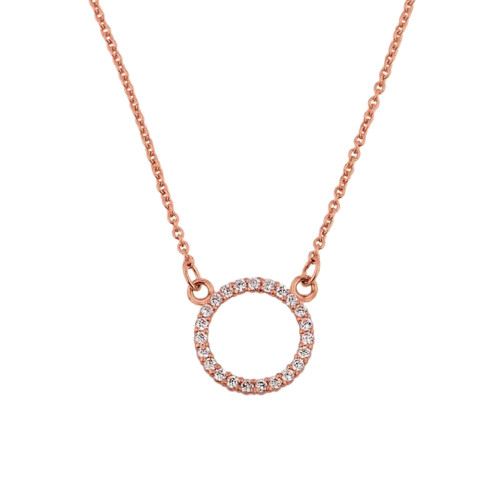 "14k Rose Gold ""Circle of Love"" Necklace"