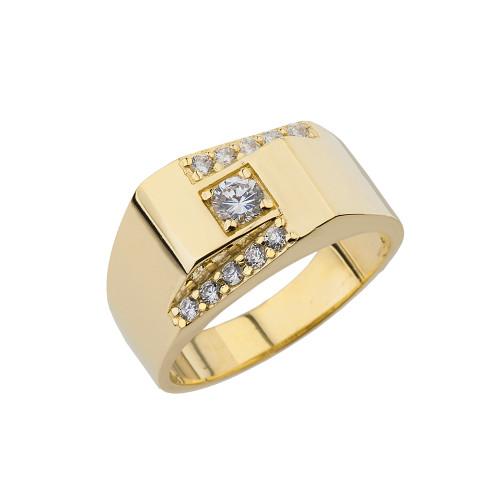Yellow Gold Mens Ring