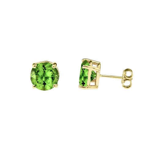 10K Yellow Gold  August Birthstone Peridot (LCP)Earrings