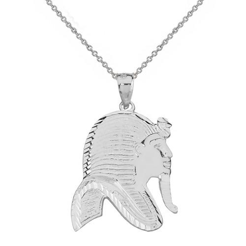 Sterling Silver Egyptian King Tut Profile Pendant Pendant Necklace