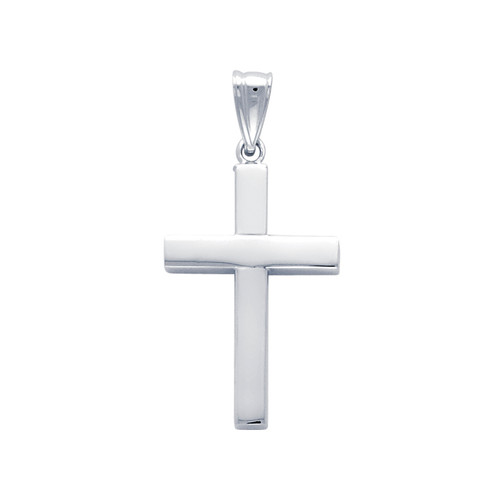 14K White Gold Pendant Cross