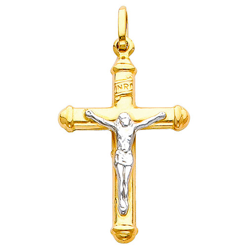 14K Two-Tone Classic Crucifix