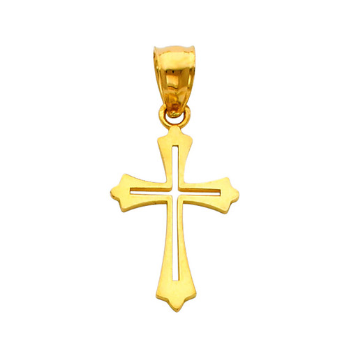 14K Gold Serenity Cross pendant