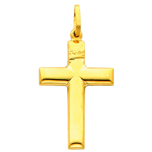 14K Gold Beatific Cross pendant