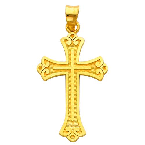 14K Gold Prized Cross pendant