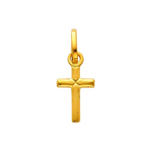 14K Gold Charisma Cross Charm Pendant