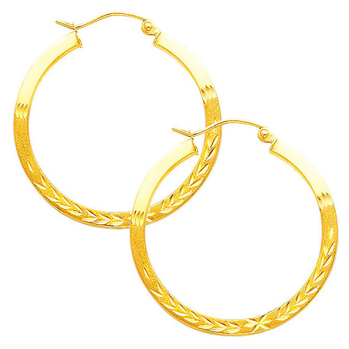 Fancy Hoop Earring-1.25 Inches