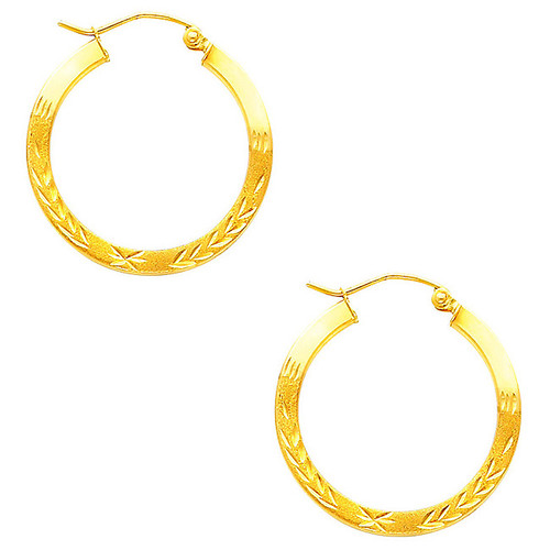 Fancy Hoop Earring-1 Inches